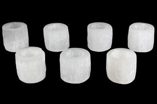"Buy Wholesale Lot: 2 1/2"" Decorative Selenite Candle Holders - 40 Pieces - #138226"