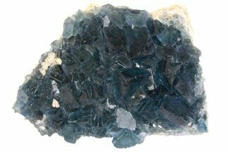"Buy 3.3"" Cubic, Blue-Green Fluorite Crystals on Quartz - China - #138709"