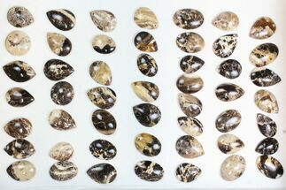 Wholesale Lot: Polished Madagascar Black Opal Pendants - 50 Pieces For Sale, #138968