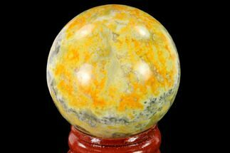 "1.6"" Polished Bumblebee Jasper Sphere - Indonesia For Sale, #139991"