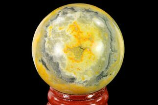 "1.7"" Polished Bumblebee Jasper Sphere - Indonesia For Sale, #139997"