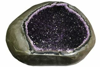 "Top Quality, 11.2"" Amethyst Geode with Calcite Crystals - Uruguay For Sale, #140531"