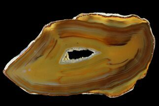 "5.12"" Polished, Banded Agate Slab - Brazil For Sale, #141215"