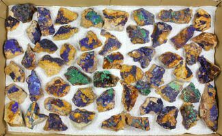 Buy Wholesale Flat: Sparkling Azurite & Malachite Clusters - 55 Pieces - #140821