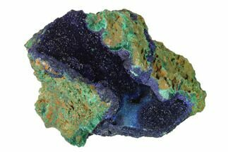 "2.7"" Sparkling Azurite Crystals With Malachite - Laos For Sale, #142616"