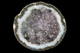 Quartz var. Amethyst, Goethite & Calcite - Fossils For Sale - #145869