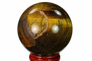 "2"" Polished Tiger's Eye Sphere - Africa For Sale, #148898"