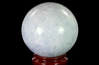 "4.75"" Polished Blue Calcite Sphere - Madagascar For Sale, #149348"