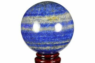 "3.1"" Polished Lapis Lazuli Sphere - Pakistan For Sale, #149369"