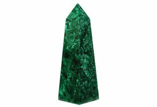 "3.7"" Tall, Polished Malachite Obelisk - Congo For Sale, #150308"