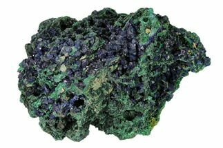 "Buy 4.3"" Sparkling Azurite Crystals with Malachite - Laos - #149656"