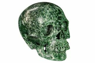 "Buy 5"" Realistic, Polished Hamine Jasper Skull - #150874"