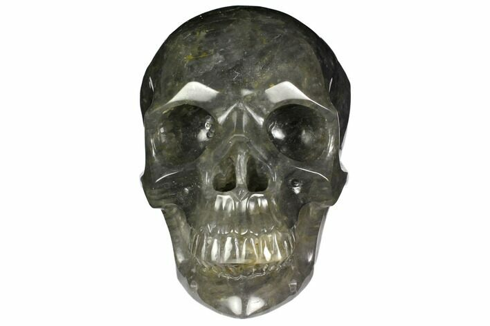"7"" Carved, Grey Smoky Quartz Crystal Skull"