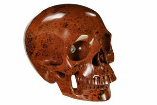 "5"" Realistic, Polished Mahogany Obsidian Skull For Sale, #151187"