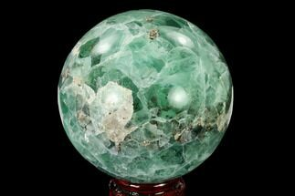 "3.5"" Polished Green Fluorite Sphere - Mexico For Sale, #153371"