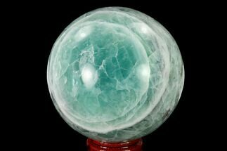 "2.75"" Polished Green Fluorite Sphere - Mexico For Sale, #153356"