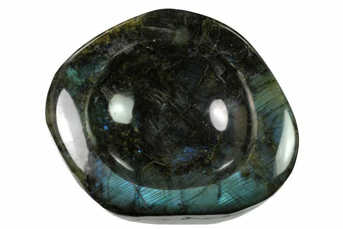 "6.6"" Polished, Flashy Labradorite Dish - Madagascar"