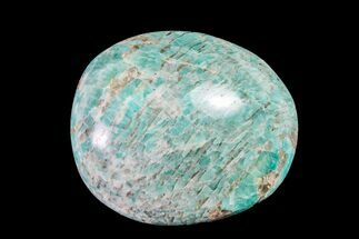 "2.2"" Polished Graphic Amazonite Pebble For Sale, #158396"