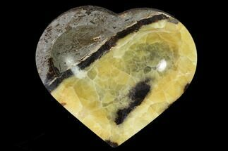 "6.6"" Polished, Heart-Shaped Septarian Dish - Madagascar For Sale, #157433"