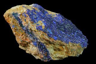 "3.6"" Azurite Druze with Malachite on Matrix - Morocco For Sale, #159314"