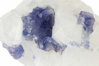 "2"" Cubic Purple-Blue Fluorite with Phantoms - Yaogangxian Mine For Sale, #161561"