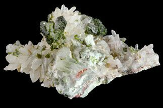 "Buy 1.7"" Lustrous Epidote with Quartz Crystals - Morocco - #161146"