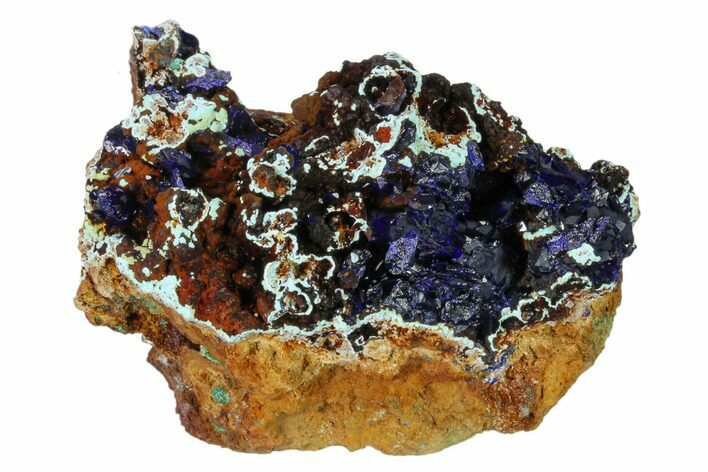 "3"" Azurite Crystals with Malachite & Chrysocolla - Laos"