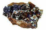 "3"" Azurite Crystals with Malachite & Chrysocolla - Laos - #162600-1"