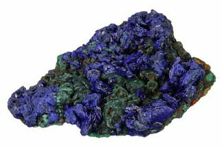 "Buy 3.3"" Sparkling Azurite Crystals with Malachite - Laos - #162604"