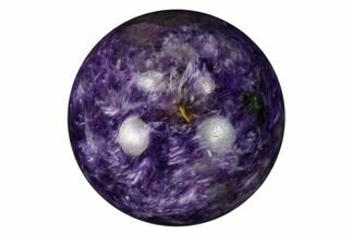 "1.1"" Polished Purple Charoite Sphere - Siberia, Russia For Sale, #164042"