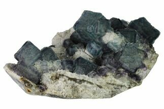 "4.6"" Pristine, Multicolored Fluorite Crystals on Quartz - China For Sale, #164036"