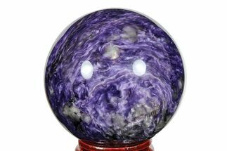 "Buy 1.95"" Polished Purple Charoite Sphere - Siberia, Russia - #165448"