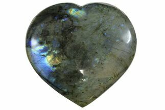 "4.2"" Flashy Polished Labradorite Heart - Madagascar For Sale, #167291"