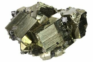 "2.1"" Cubic Pyrite Crystal Cluster with Sphalerite - Peru For Sale, #167708"