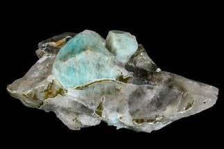 "4.1"" Amazonite Crystals On Smoky Quartz - Colorado For Sale, #168086"
