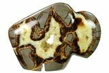"5.5"" Calcite Crystal Filled, Polished Septarian ""Buffalo"" - Utah - #167869-2"