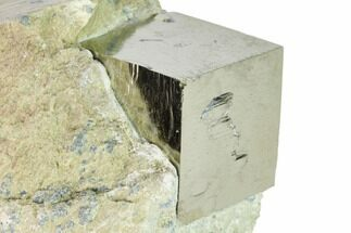 "Buy Large, 1.3"" Natural Pyrite Cube In Rock - Navajun, Spain - #168514"