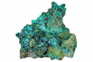 "2.6"" Chrysocolla on Quartz Crystal Cluster - Tentadora Mine, Peru For Sale, #169259"