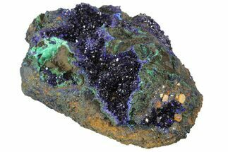 "6"" Sparkling Azurite Crystals with Malachite - Laos For Sale, #170027"