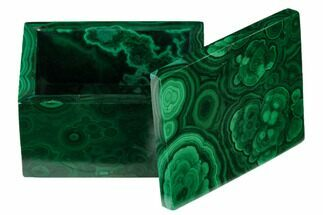 "2.1"" Polished Malachite Jewelry Box - Congo For Sale, #169853"