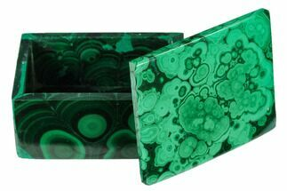 "2.45"" Polished Malachite Jewelry Box - Congo For Sale, #169883"