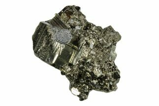 "Buy 2.4"" Shiny, Cubic Pyrite Crystal Cluster - Peru - #173257"