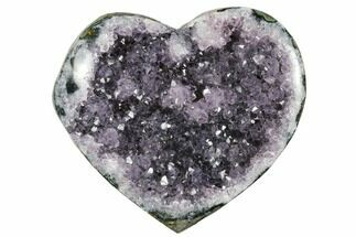 "Buy 3.4"" Dark Purple Amethyst Heart - Uruguay - #172039"