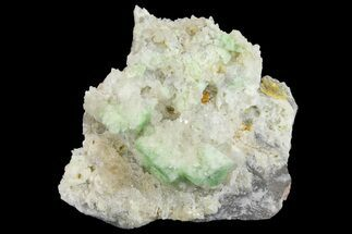 "1.9"" Green Augelite Crystals on Quartz - Peru For Sale, #173381"