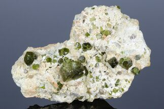 "4"" Lustrous Demantoid Garnet Cluster in Matrix - Madagascar For Sale, #175913"