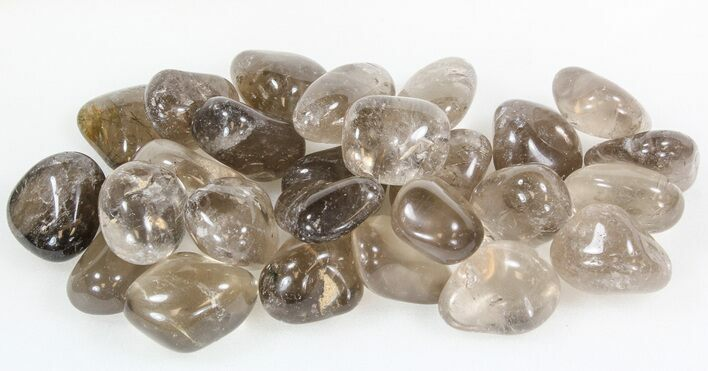 Bulk Polished Smoky Quartz - 8oz. (~ 10pc.) - Photo 1