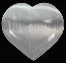 "Bulk Polished Selenite Hearts 2-1/2"" - Single Specimen"