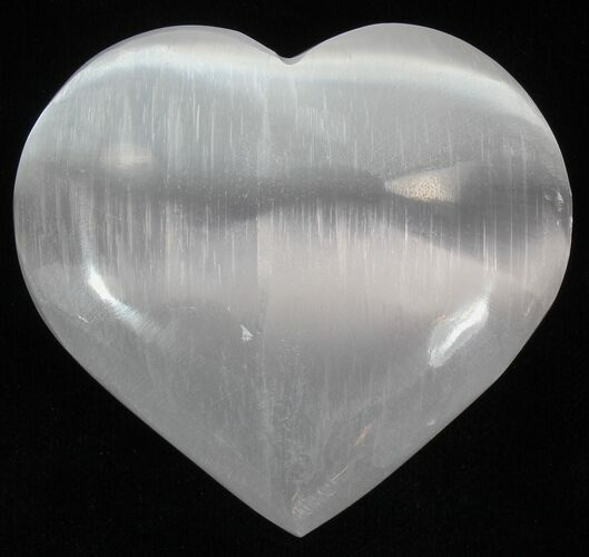 "2 1/4"" Polished Selenite Hearts - 1 Piece - Photo 1"