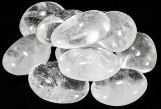 "Bulk Polished Clear Quartz ""Pebbles"" - 10 Pack"
