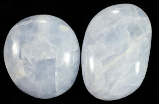 "Bulk: Polished Blue Calcite ""Pebble"" - Single Stone"